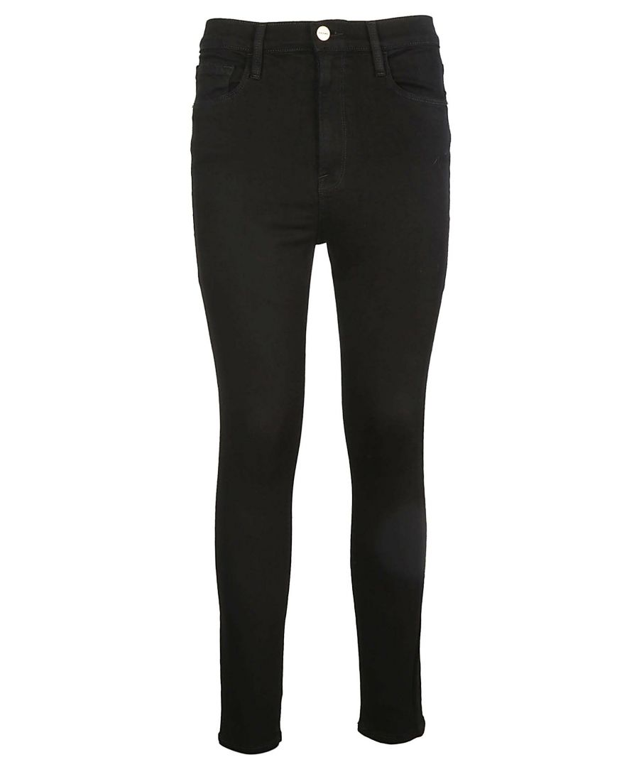 Image for FRAME WOMEN'S AHRSKC208 BLACK COTTON JEANS