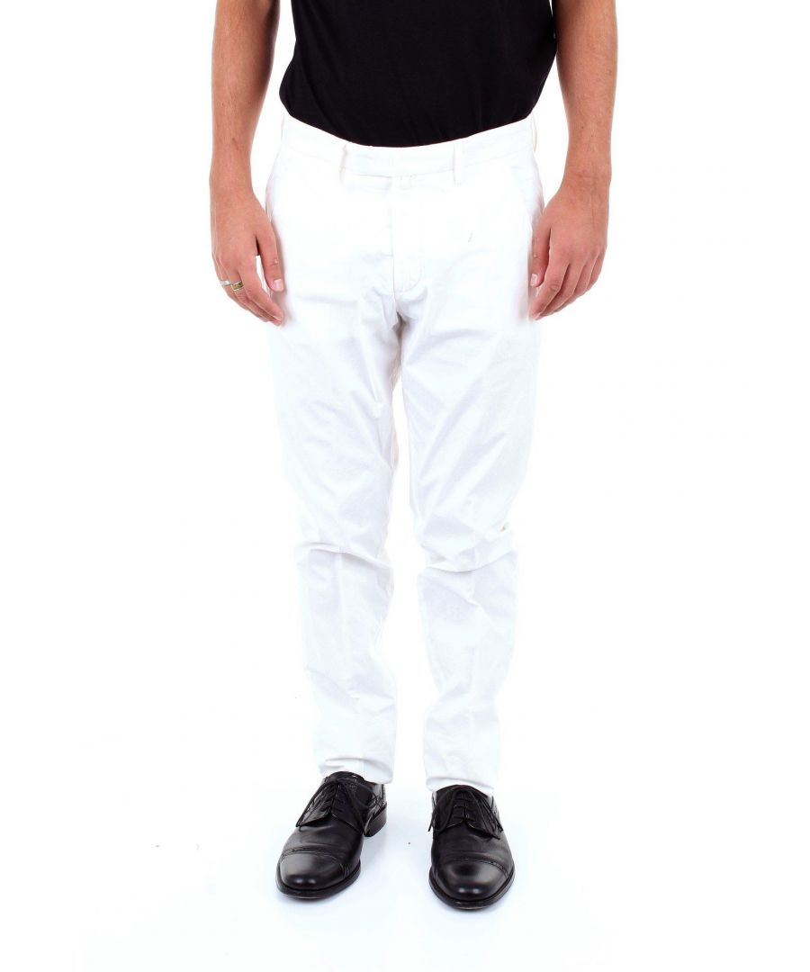 Image for BRIGLIA 1949 MEN'S BG0339510BIANCO WHITE COTTON PANTS
