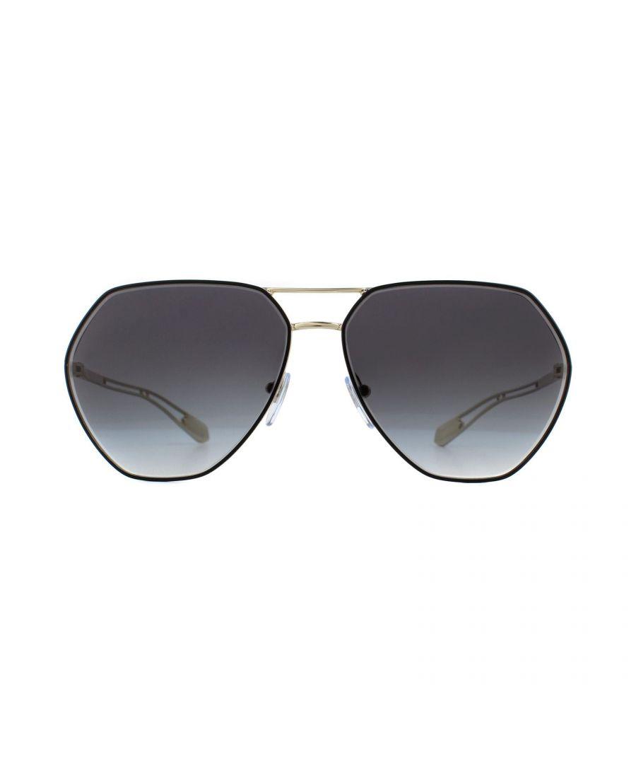 Image for Bvlgari Sunglasses BV6098 20188G Gold Grey Gradient
