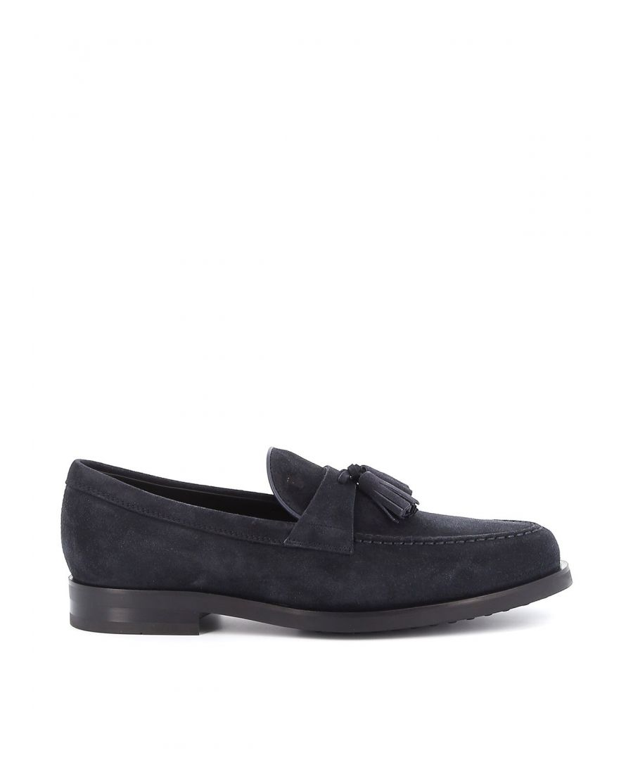 Image for TOD'S MEN'S XXM0ZF0AB90RE0U805 BLUE SUEDE LOAFERS