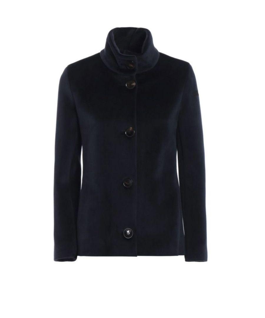Image for RRD WOMEN'S F715D1955060 BLUE POLYESTER COAT