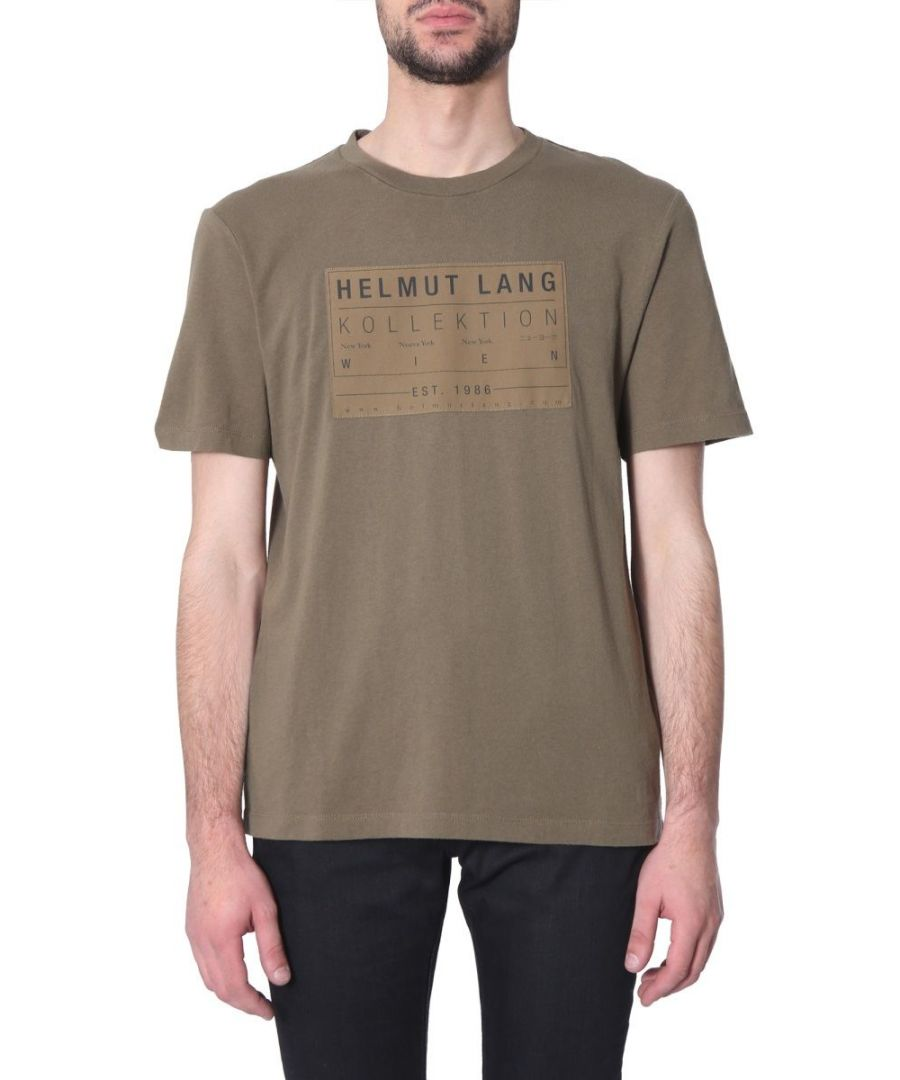 Image for HELMUT LANG MEN'S J04HM513Y9P GREEN COTTON T-SHIRT