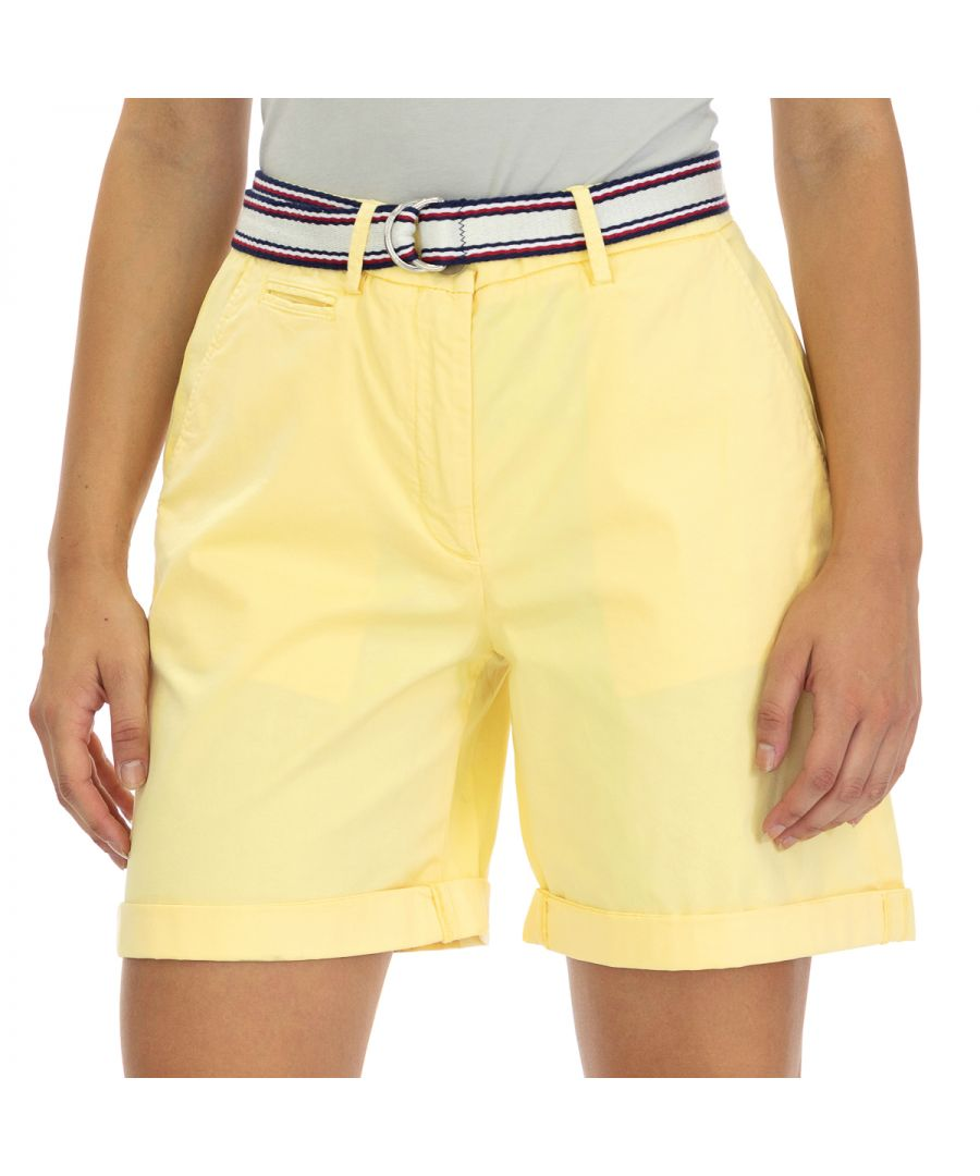 Image for Tommy Hilfiger Women's Shorts Yellow