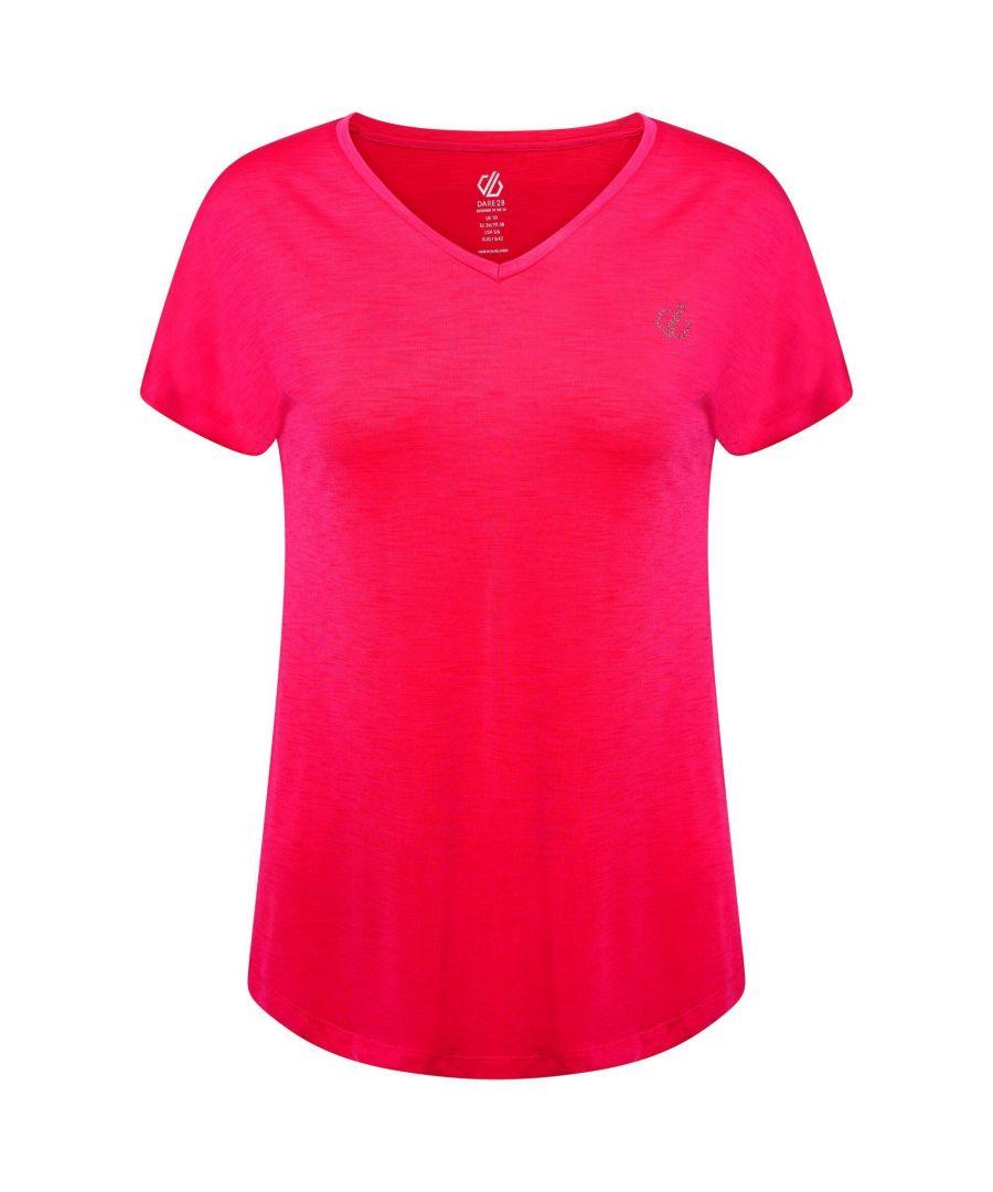 Image for Dare 2B Womens/Ladies Agleam Swarovski T-Shirt (Active Pink)