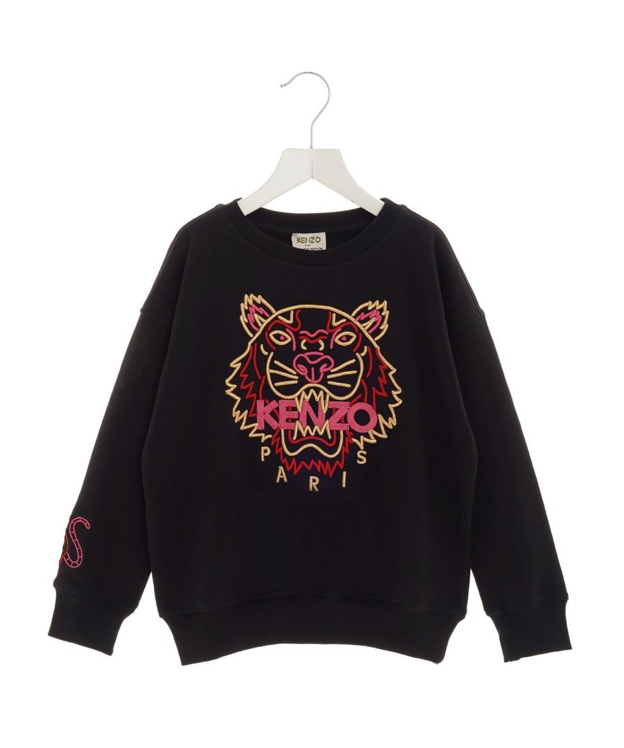 Image for KENZO BOYS KP1522802 BLACK COTTON SWEATSHIRT