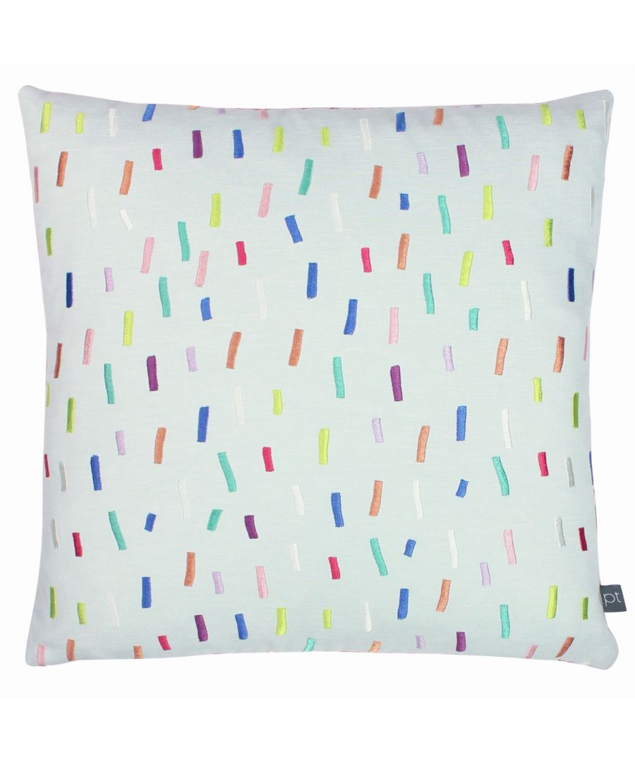 Image for Prestigious Textiles Dolly Mixture Polyester Filled Cushion, Polyester, Cotton, Rainbow