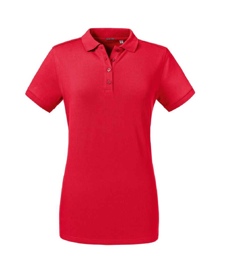 Image for Russell Women's Tailored Stretch Polo (Classic Red)