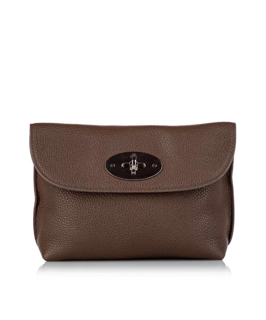 Image for Vintage Mulberry Darley Leather Clutch Bag Brown