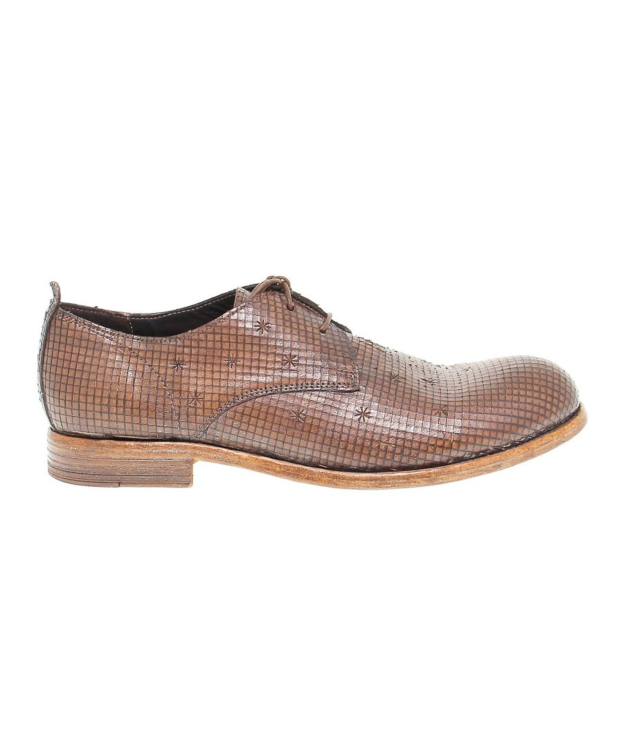 Image for MOMA MEN'S 12805 BROWN LEATHER LACE-UP SHOES