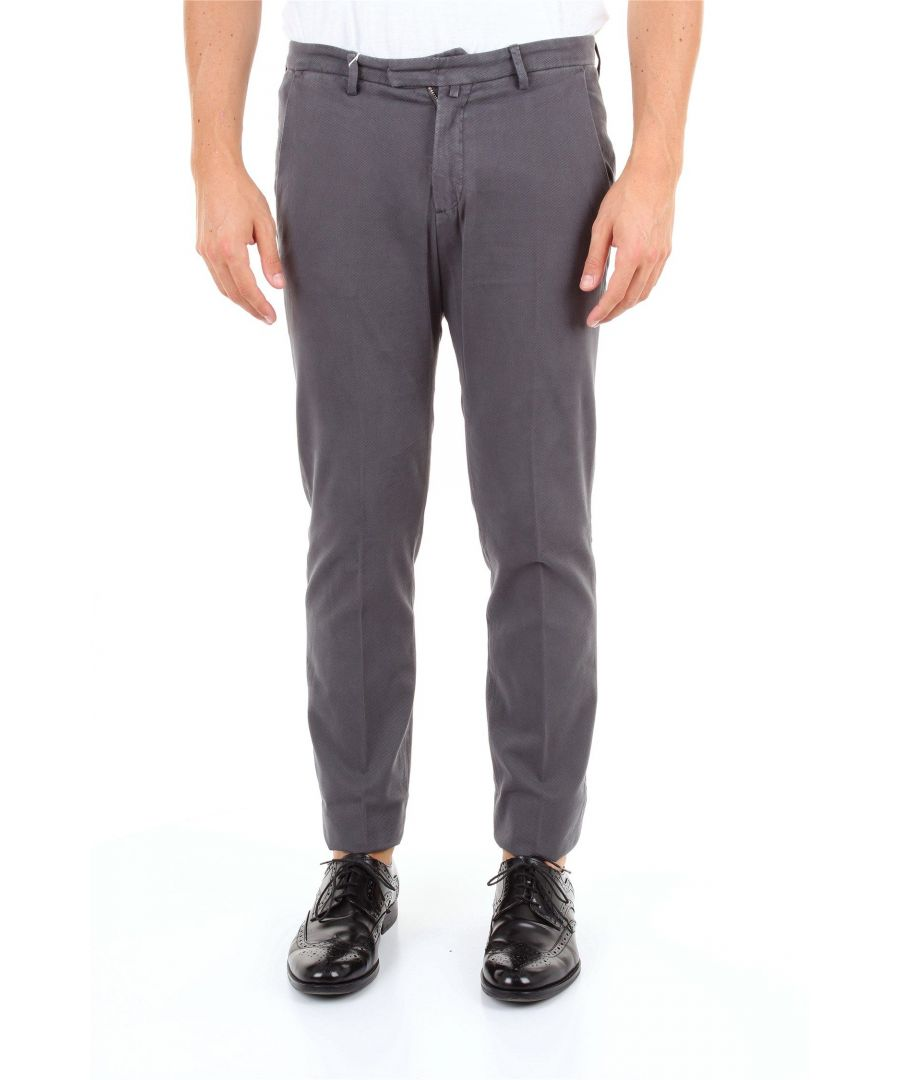 Image for BRIGLIA 1949 MEN'S BG0339577GRIGIOSCURO GREY COTTON PANTS