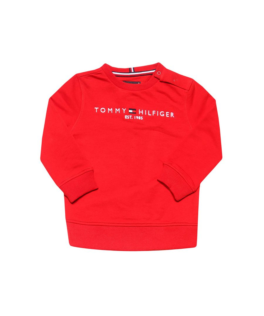 Image for Boys' Tommy Hilfiger Junior Essential Crew Sweat In Red