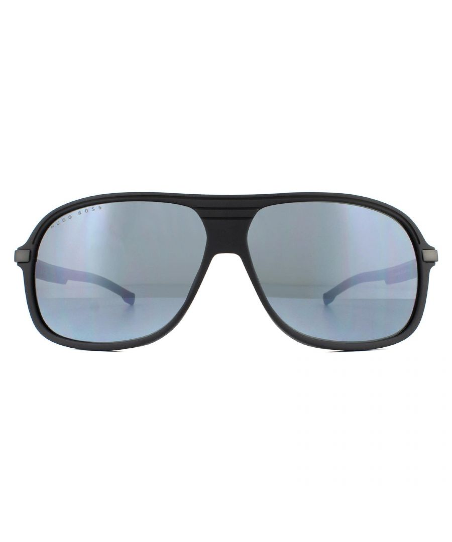 Image for Hugo Boss Sunglasses BOSS 1200/S 003/T4 Matte Black Silver Mirror