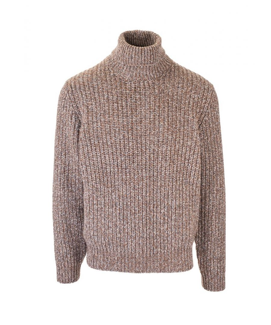 Image for BRUNELLO CUCINELLI MEN'S M2236303C3564 BROWN WOOL SWEATER