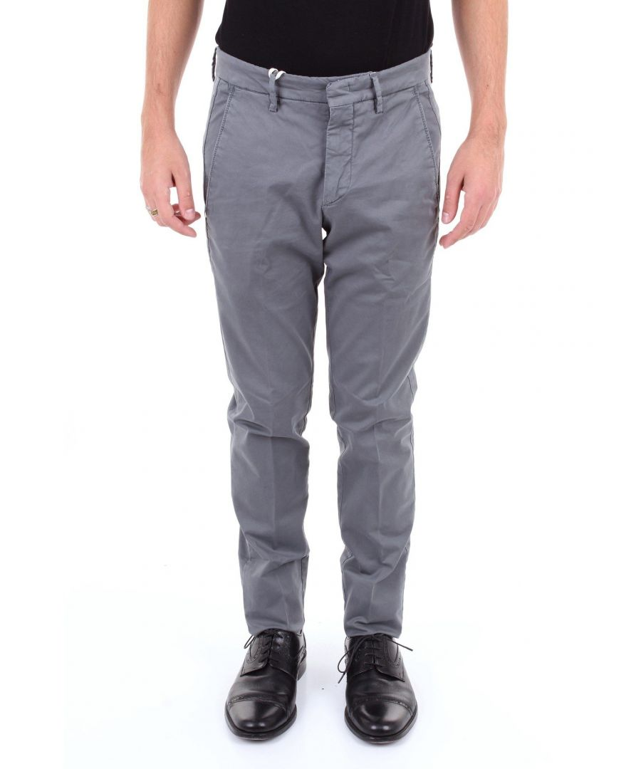 Image for MICHAEL COAL MEN'S BRAD2563LPIOMBO GREY COTTON PANTS