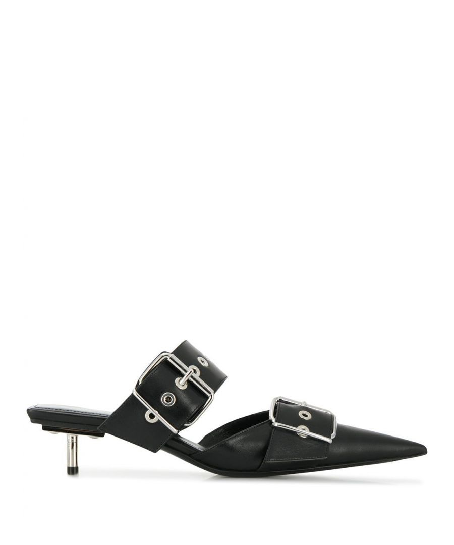 Image for BALENCIAGA WOMEN'S 565428WAZN01000 BLACK LEATHER HEELS