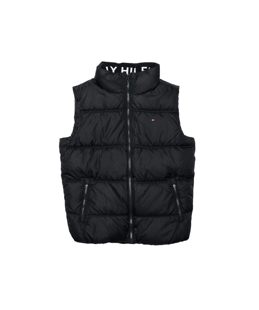 Image for Boy's Tommy Hilfiger Junior Solid Vest Gilet in Black
