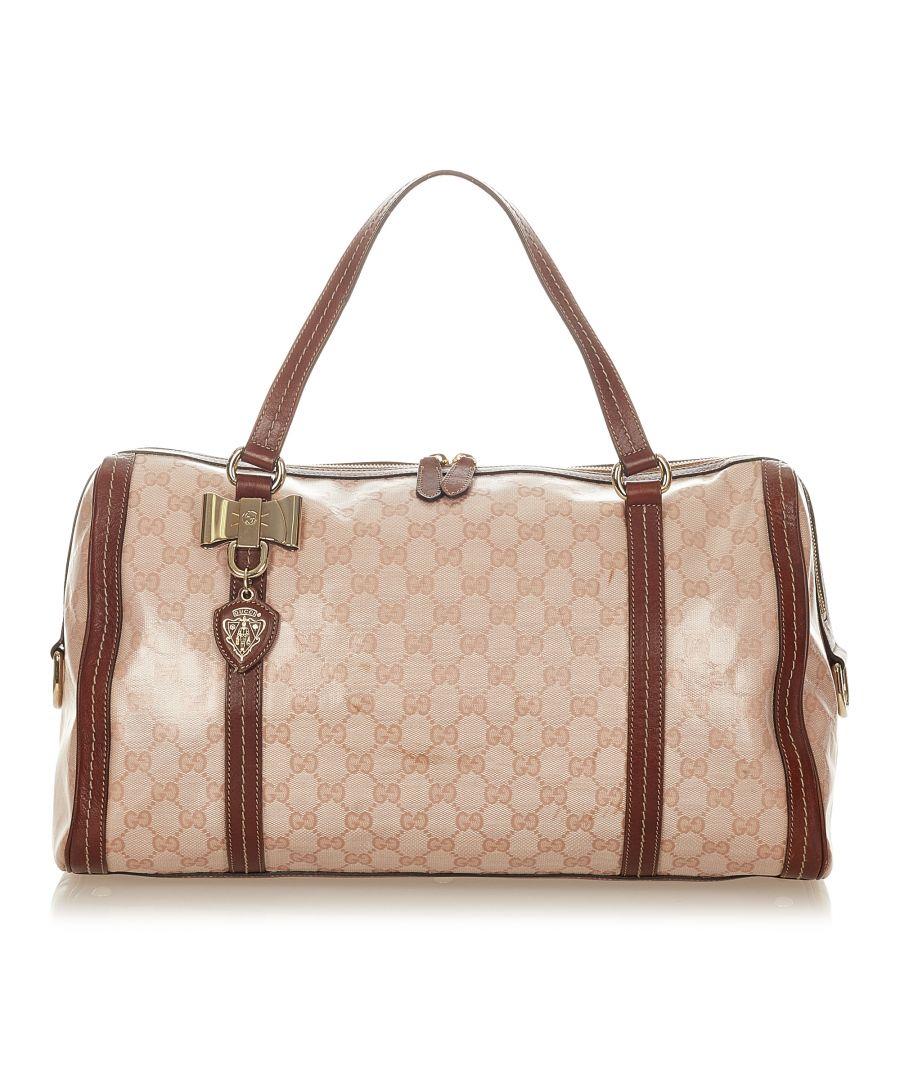 Image for Vintage Gucci GG Crystal Duchessa Boston Bag Pink