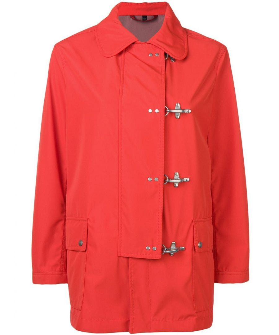 Image for FAY WOMEN'S NAW13383100PGD068D RED POLYAMIDE TRENCH COAT