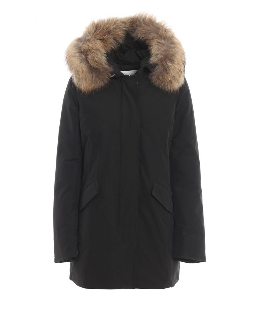 Image for WOOLRICH WOMEN'S WWCPS2762UT0001BLK BLACK COTTON OUTERWEAR JACKET