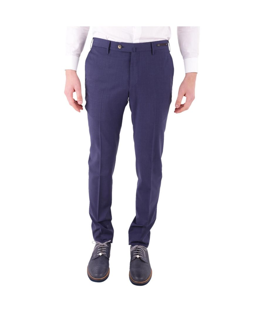 Image for PT01 MEN'S DSTVZ00NTVRE650340 BLUE COTTON PANTS
