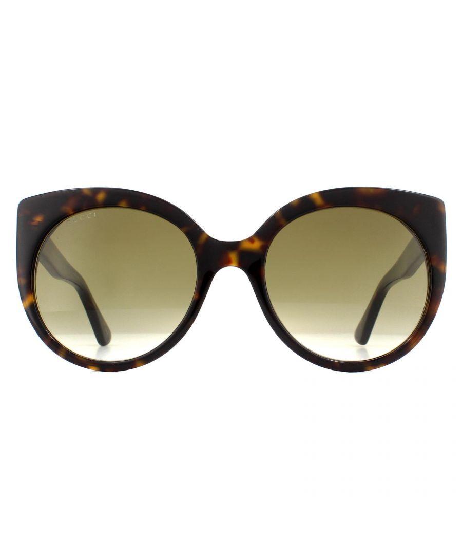 Image for Gucci Sunglasses GG0325S 002 Havana Brown Gradient