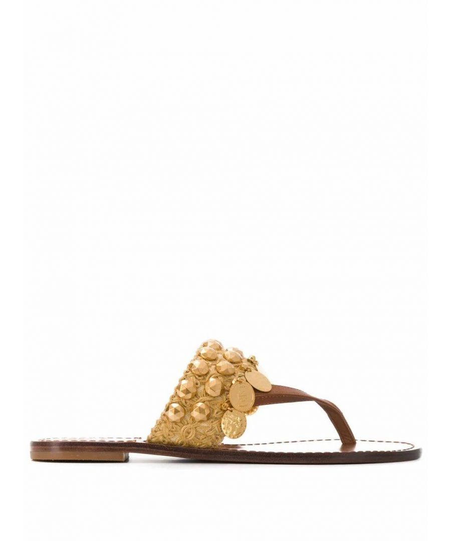 Image for TORY BURCH WOMEN'S 53692210 BROWN LEATHER SANDALS