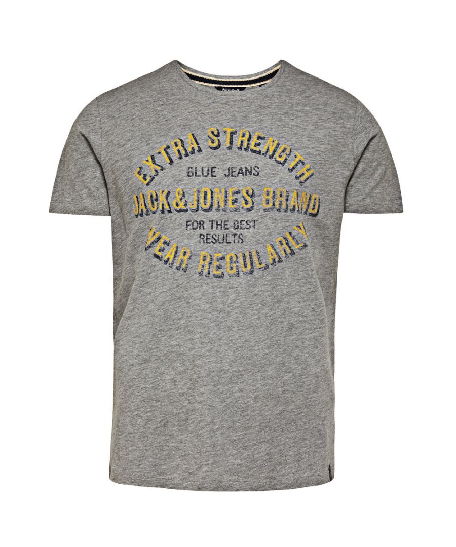 Image for Jack and Jones Eagles Nest Light Grey T-Shirt