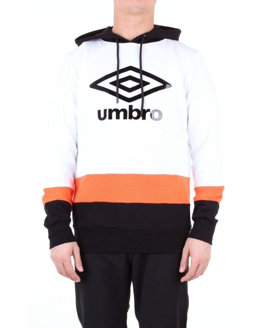 Image for UMBRO MEN'S 19ETPU0194BIANCOENERO WHITE COTTON SWEATSHIRT