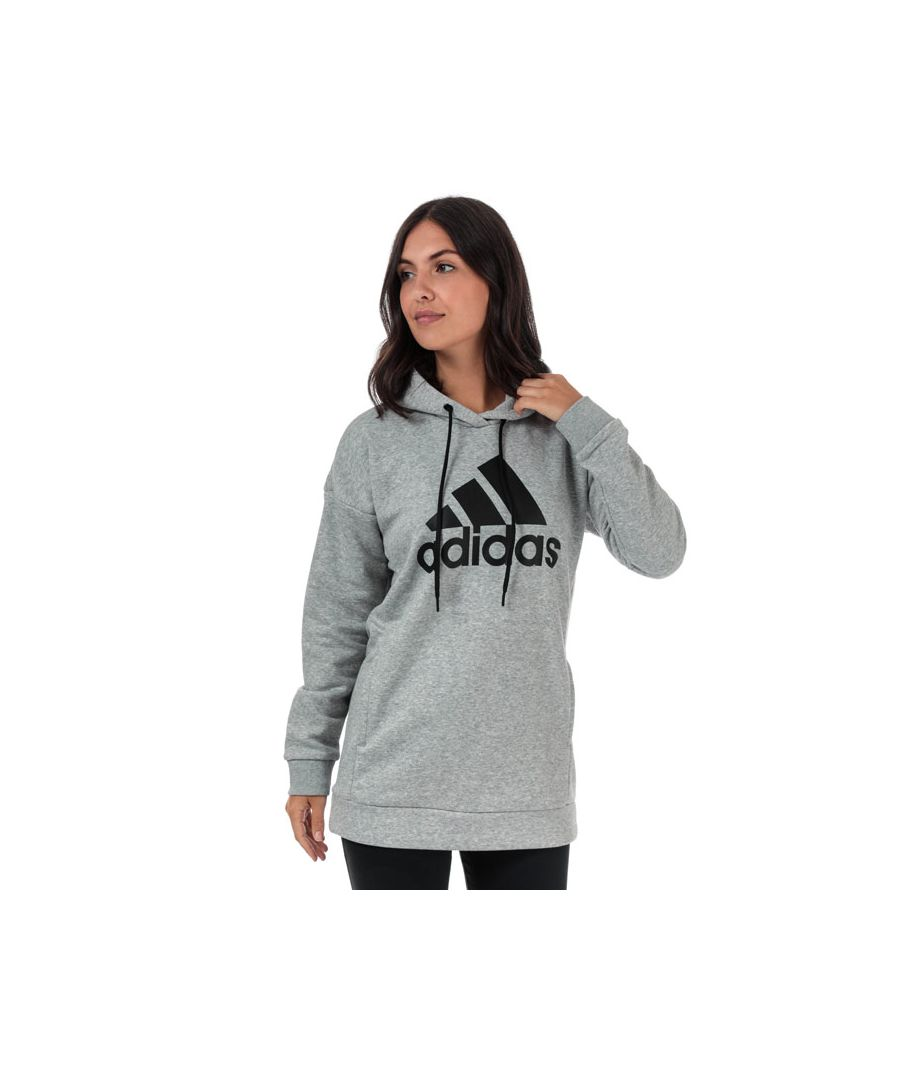Image for Women's adidas Must Haves BOS Logo Hoody in Grey Marl