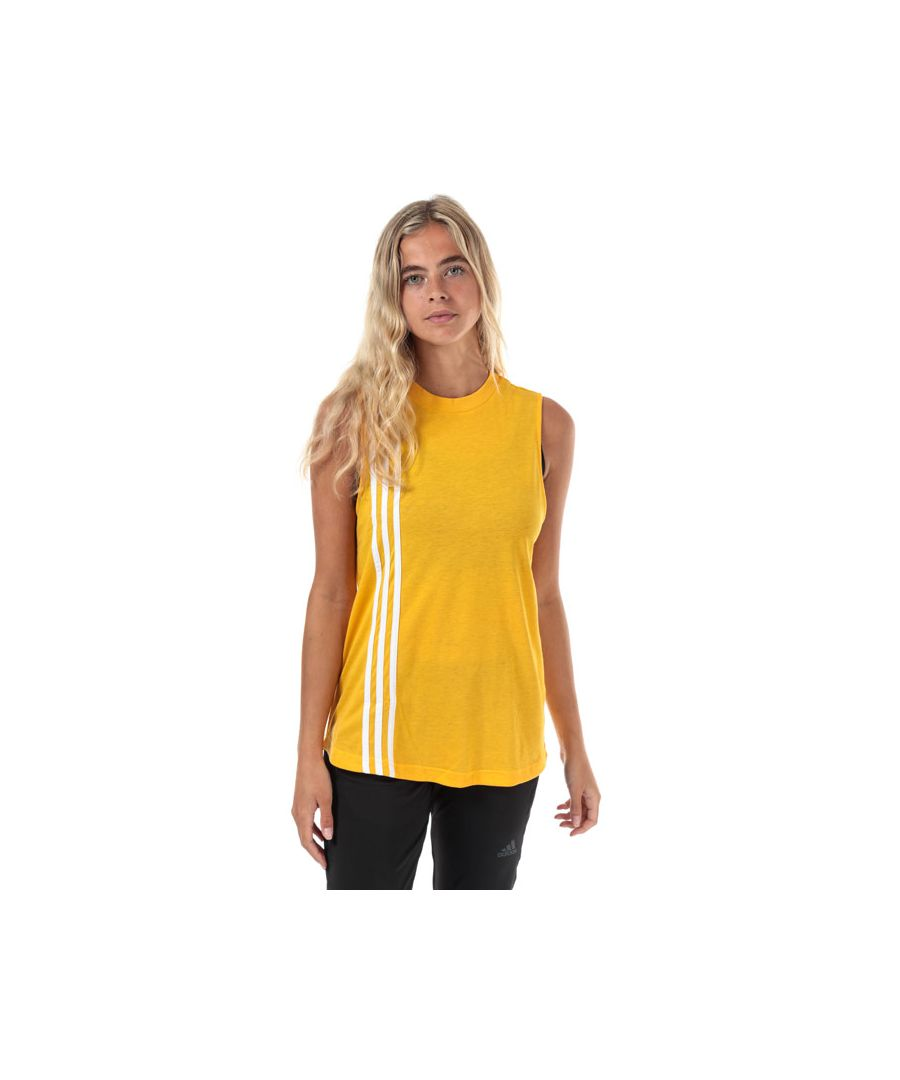 Image for Women's adidas Must Haves 3-Stripes Tank Top in Gold