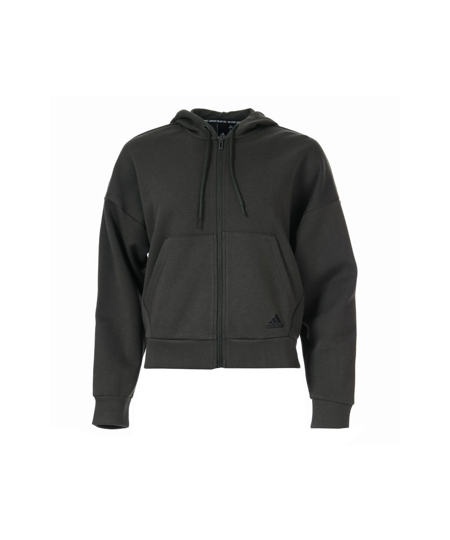 Image for Women's adidas Must Haves 3-Stripes Zip Hoodie in Olive