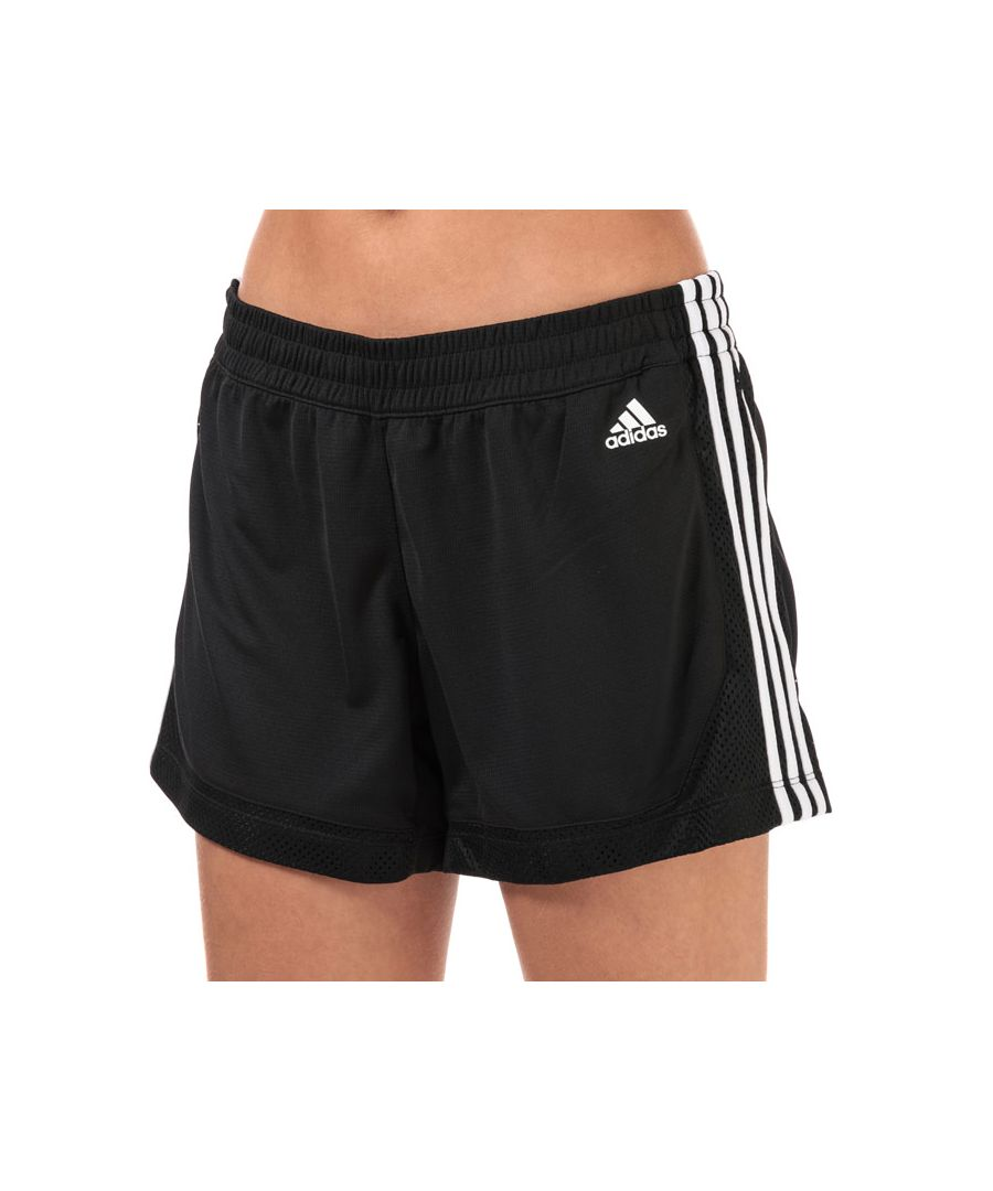 Image for Women's adidas 3-Stripes 5 Inch Mesh Shorts in Black-White