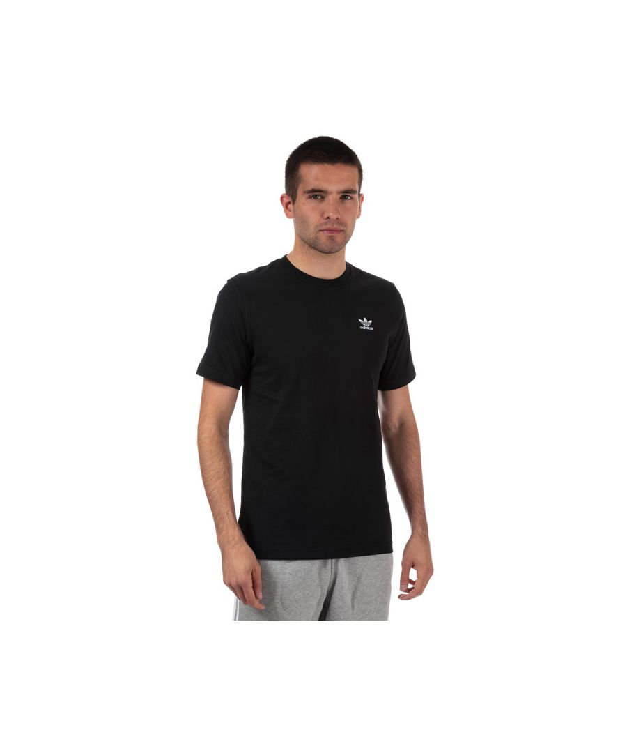 Image for Men's adidas Originals Essential Logo T-Shirt in Black