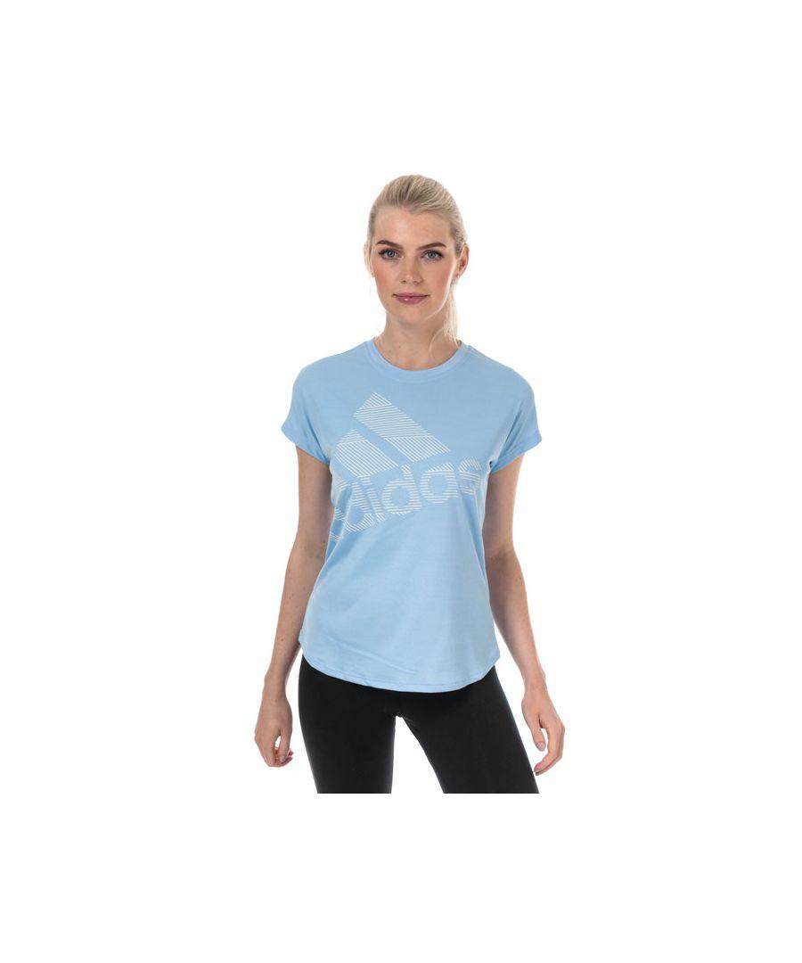 Image for Women's adidas Badge Of Sport Logo T-Shirt in Light Blue