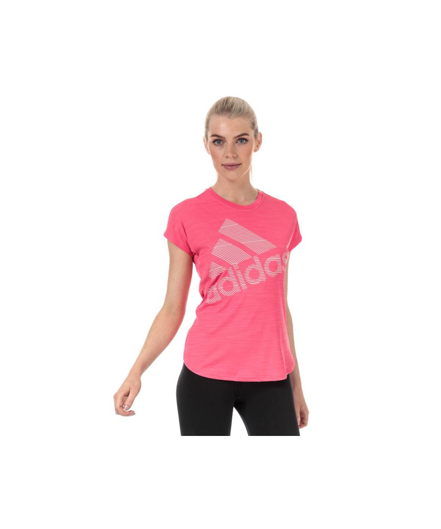 Image for Women's adidas Badge Of Sport Logo T-Shirt in Pink