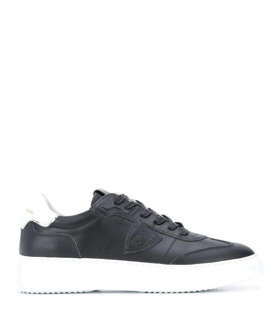 Image for PHILIPPE MODEL MEN'S BDLUV001 BLACK LEATHER SNEAKERS