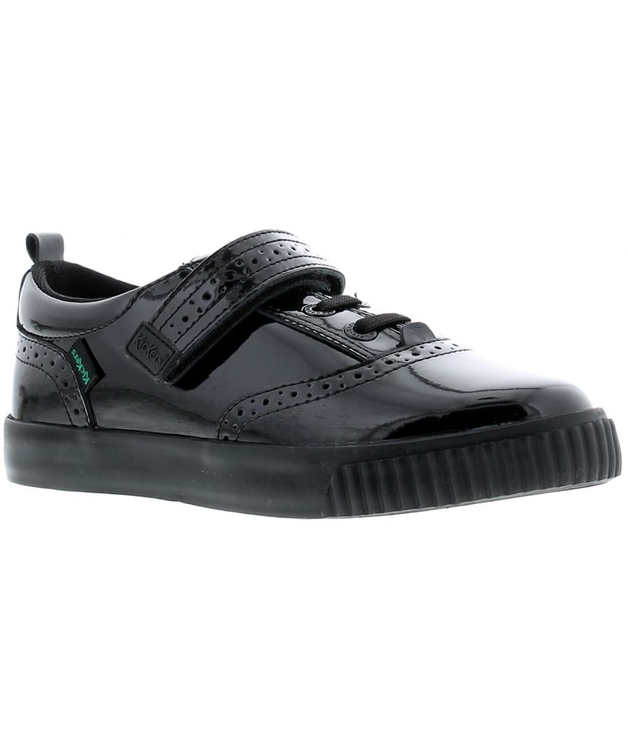 Image for Younger Girls Classroom Classic, With Brogue Detailing On The Patent Leather For A Stylish And Sturd