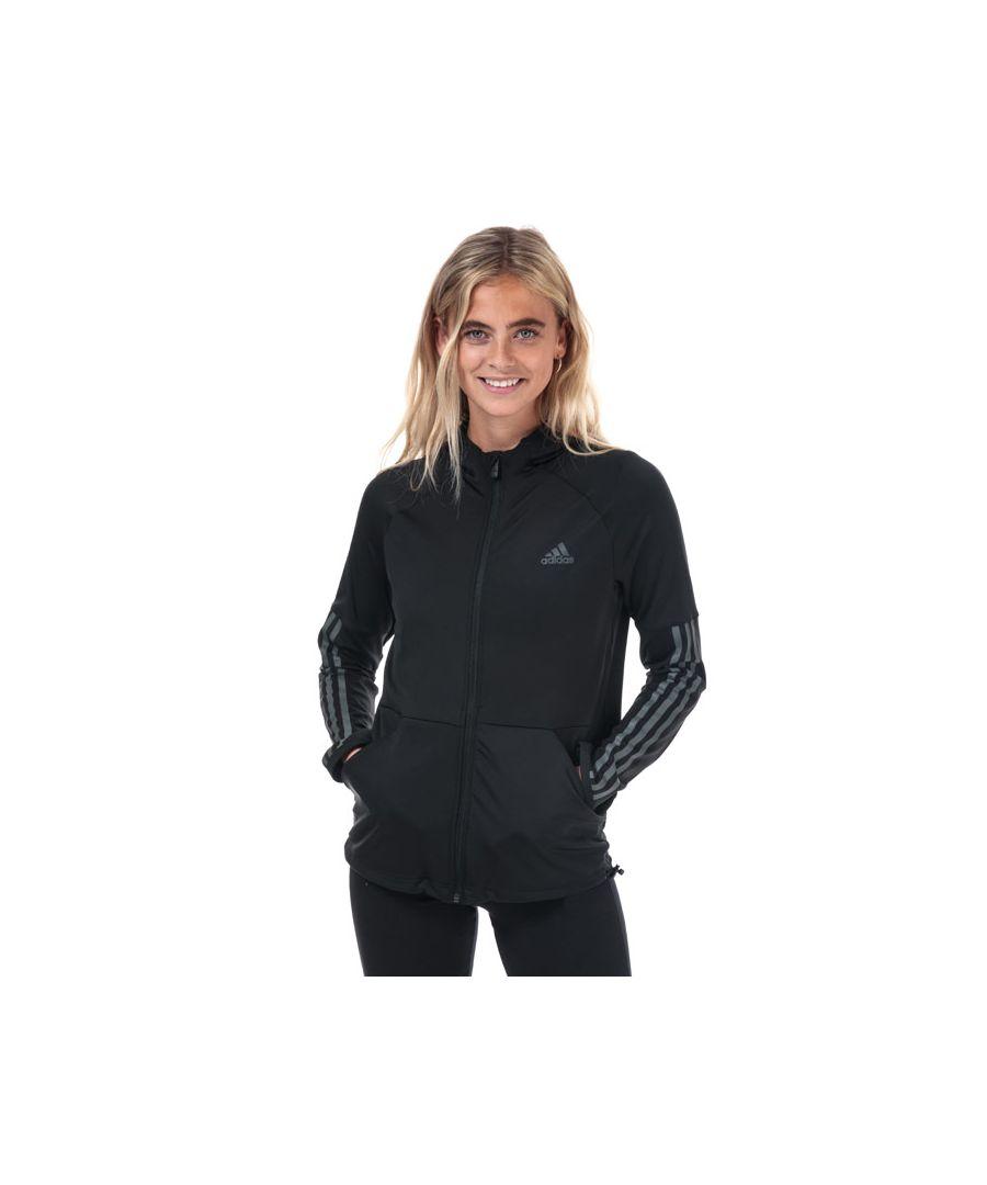 Image for Women's adidas 3-Stripes Zip Hoody in Black