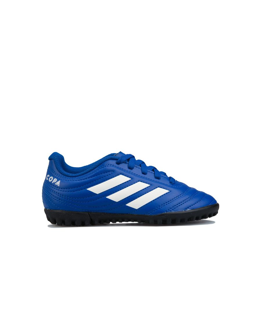 Image for Boy's adidas Junior Copa 20.4 Turf Football Boots in royal white