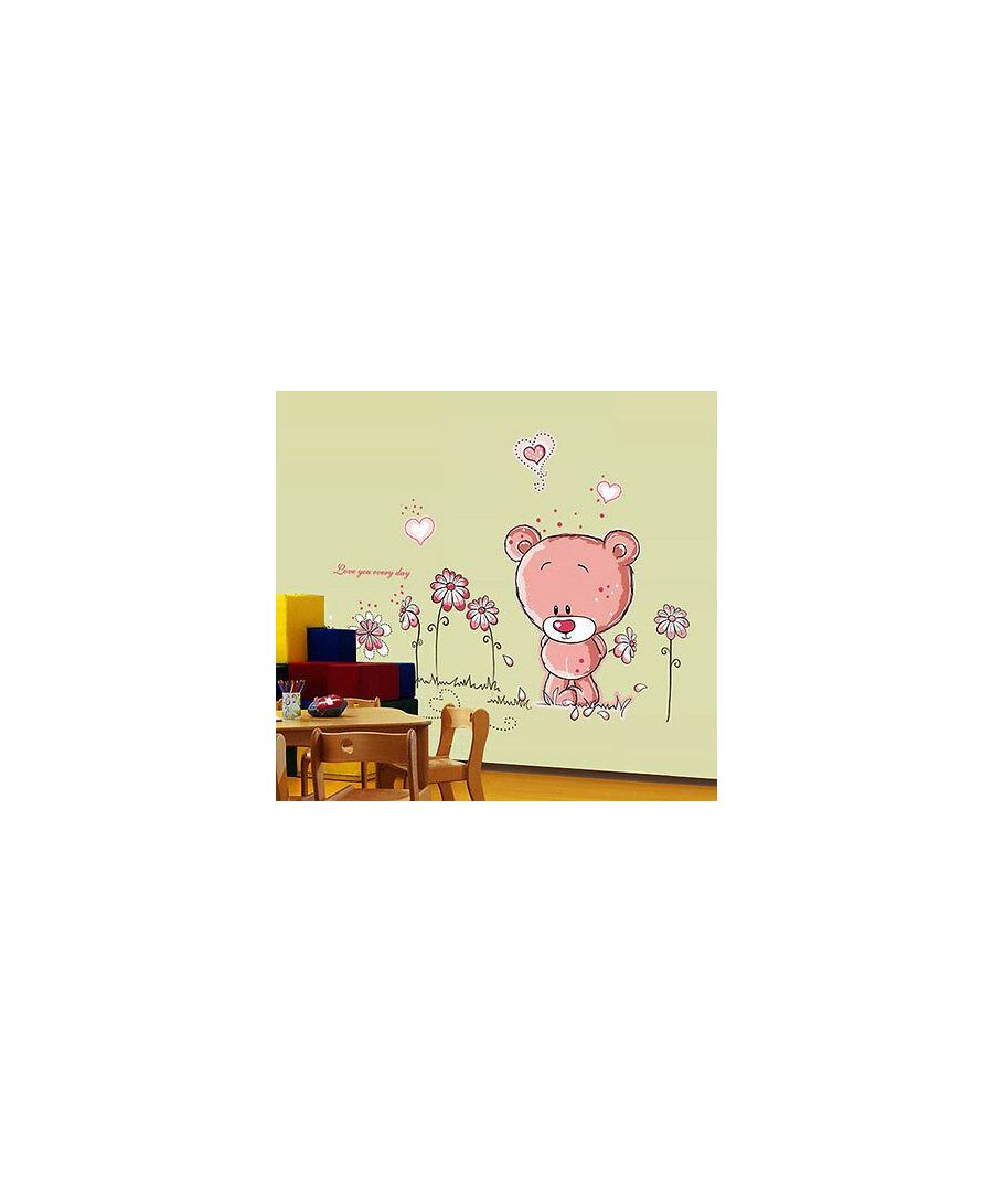 Image for Wall Art - Pink Teddy Bear