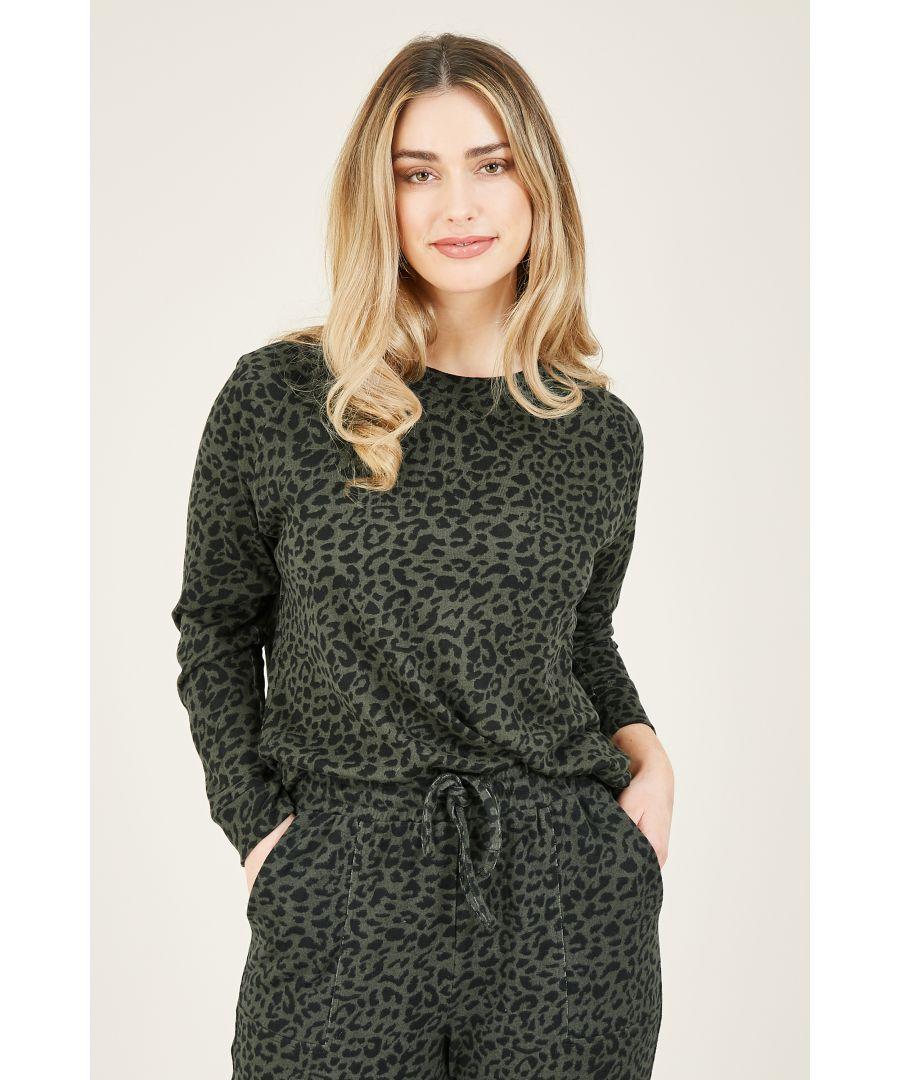 Image for Yumi Animal Print Relaxed Sweatshirt