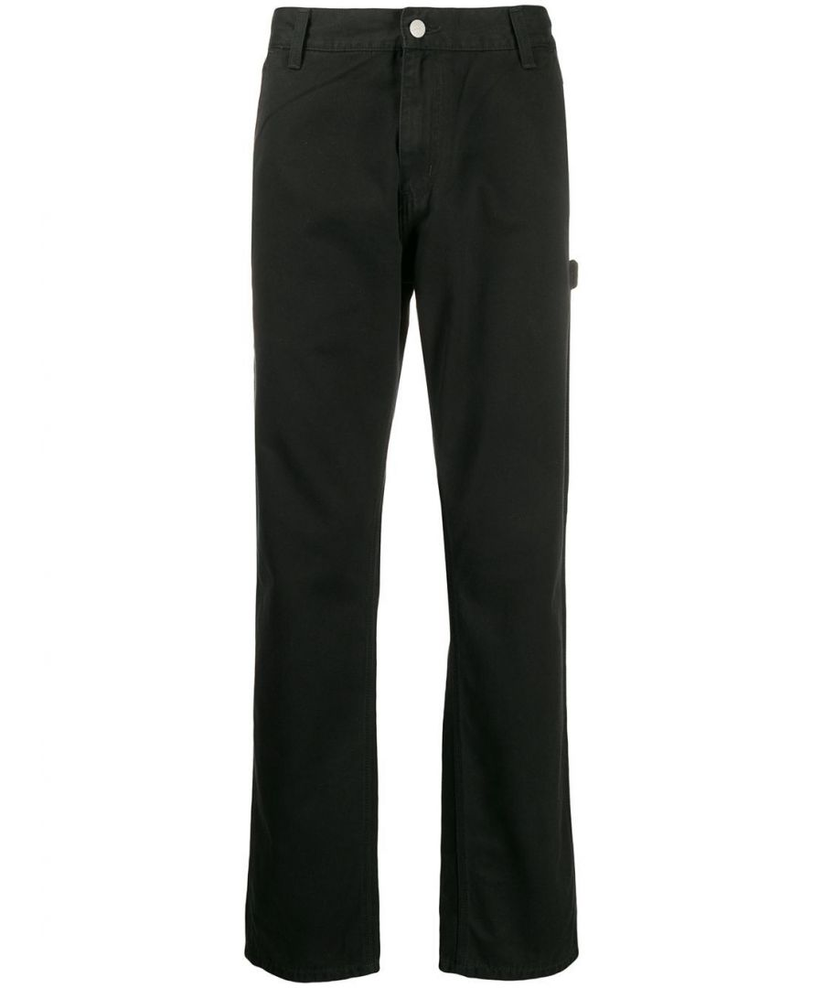 Image for CARHARTT MEN'S I024891BLACK BLACK COTTON PANTS