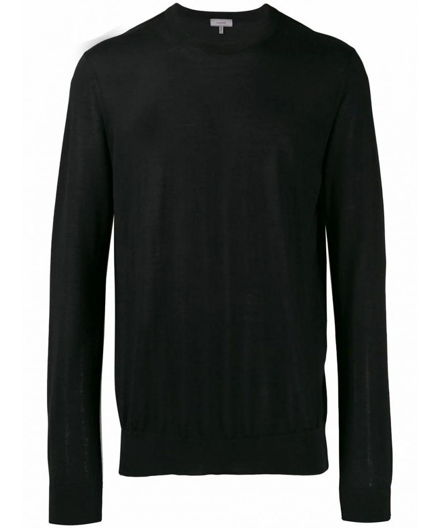 Image for LANVIN MEN'S RMPO0001A1910 BLACK CASHMERE SWEATER