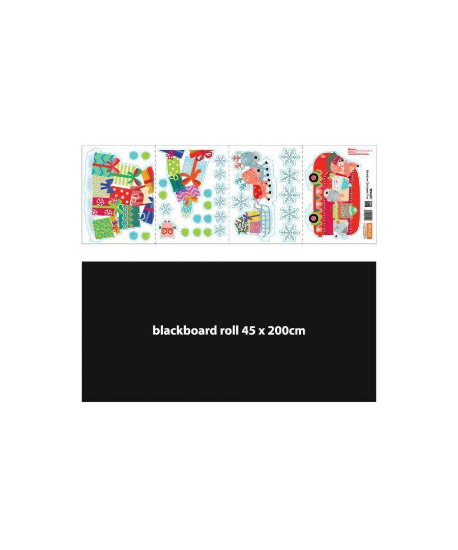 Image for C2W0016 - Blackboard Chalkboard Reindeer Christmas Tree Stickers - WS4301 + WS1109