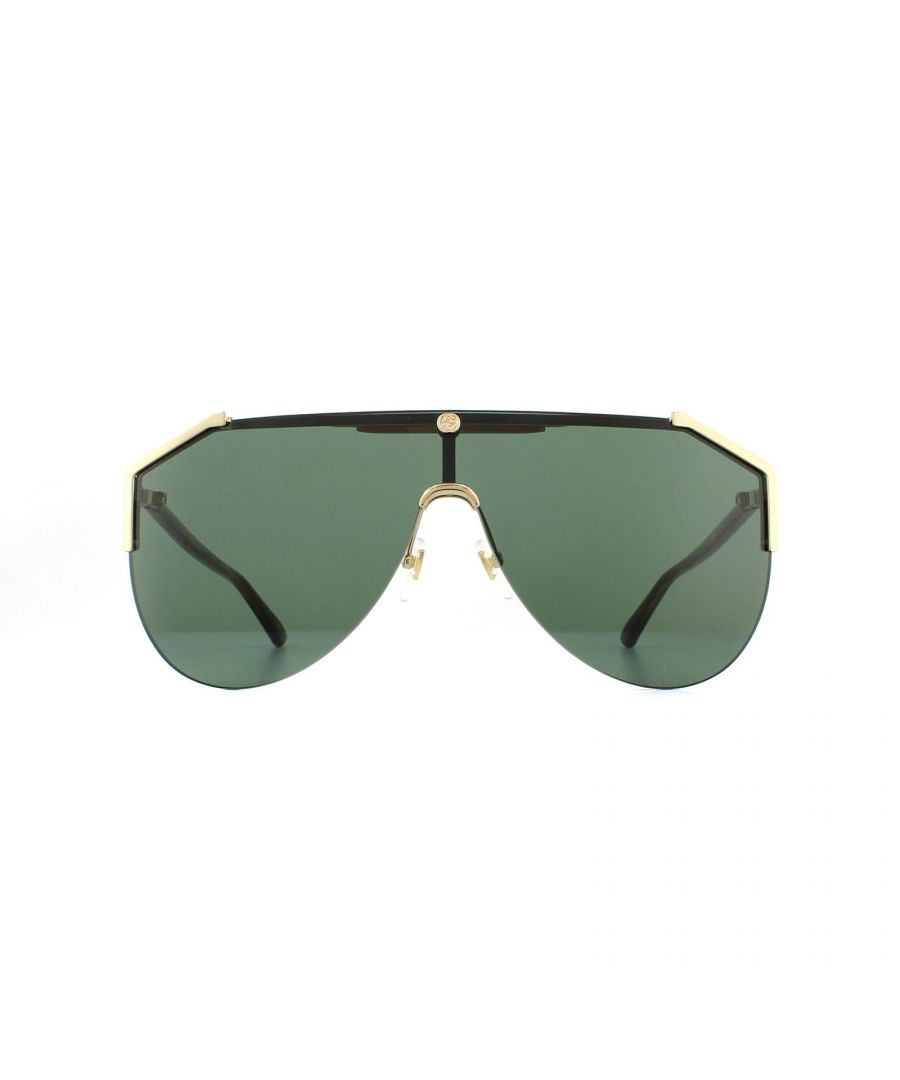Image for Gucci Sunglasses GG0584S 002 Gold and Havana Green