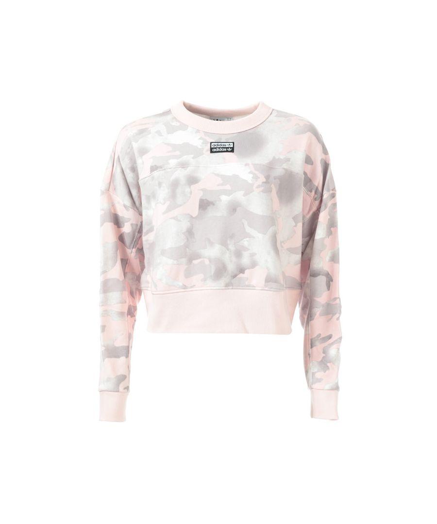 Image for Women's adidas Originals Cropped Sweatshirt in Dusky Pink