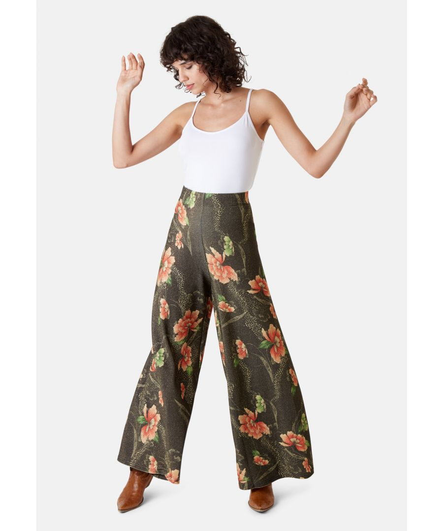 Image for Eunice's Closet Wide Leg Palazzo Trousers in Brown