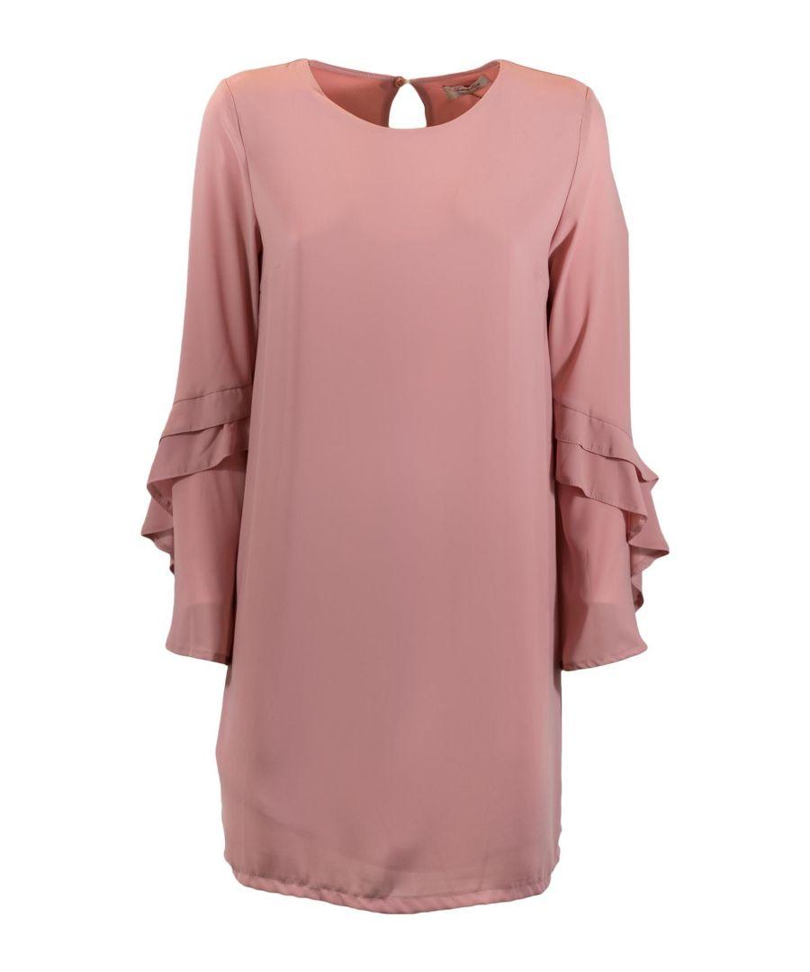 Image for TWENTY EASY BY KAOS WOMEN'S EG04100PINK PINK POLYESTER DRESS
