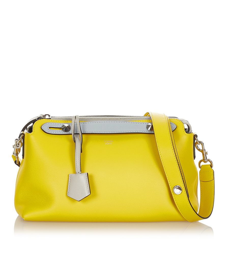 Image for Vintage Fendi By The Way Leather Satchel Yellow