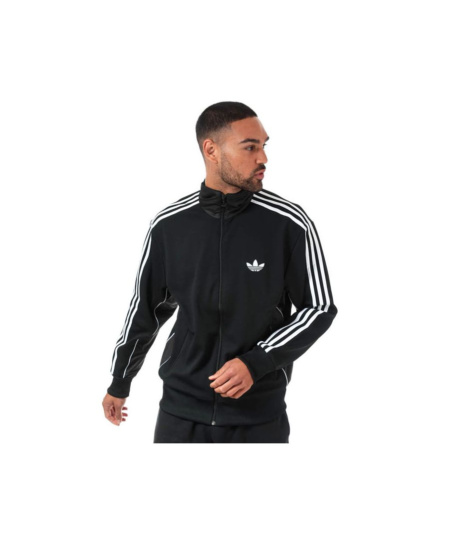 Image for Men's adidas Originals Firebird TJ Track Top in Black-White